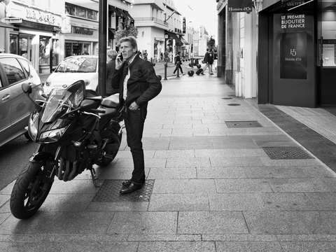 A man and his motorbike cannes