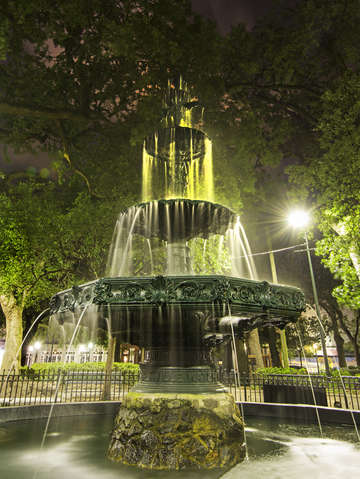 Iron fountain bienville square