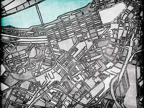 Abstract map of boston back bay