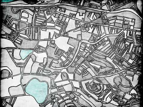Abstract map of brighton