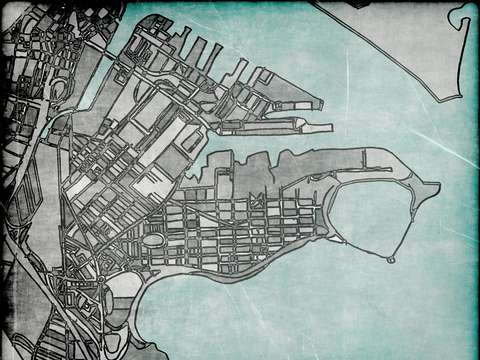 Abstract map of south boston
