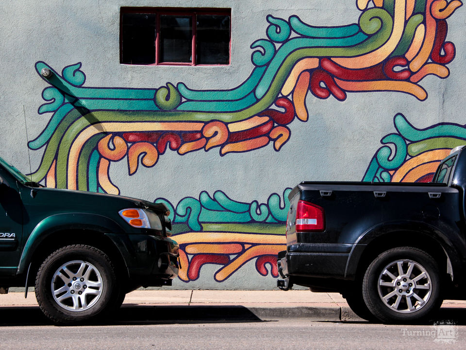 Colorful street parking