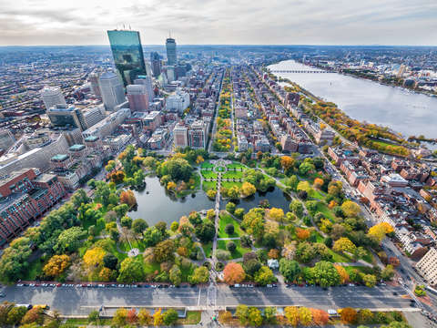 Autumn over boston