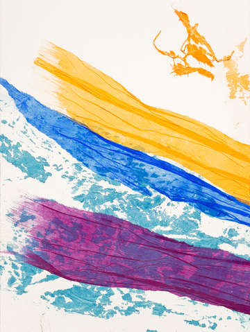 Waves of washi triptych panel 1