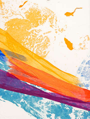 Waves of washi triptych panel 2
