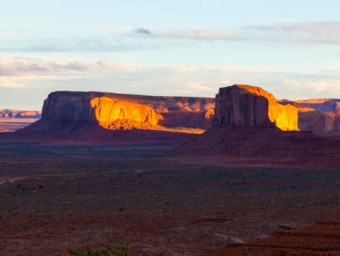Sunset fire monument valley