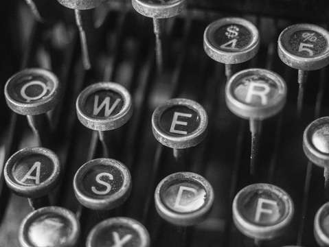 Vintage underwood typewriter keys