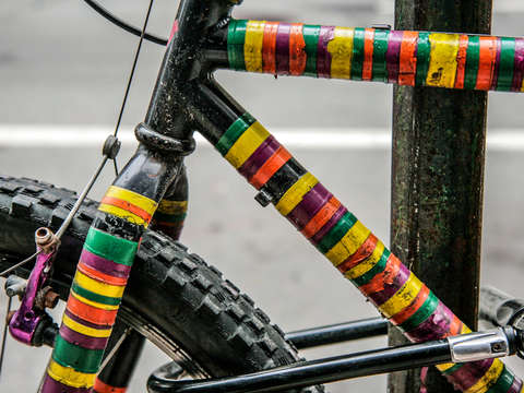 Colorful bike in providence