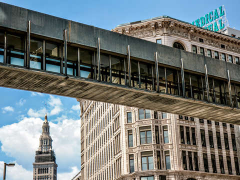 Skywalk in cleveland
