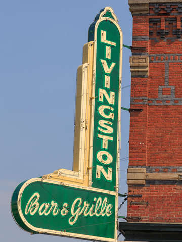 Vintage neon livingston bar and grille