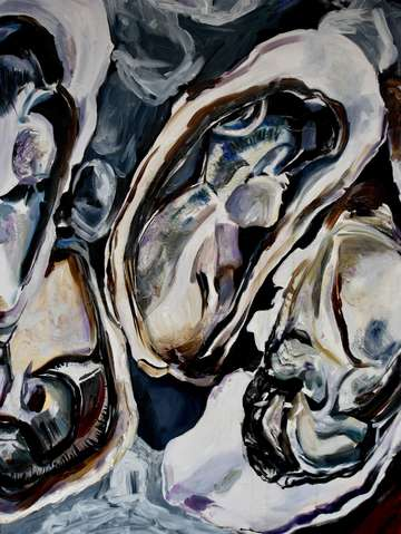 Oyster triptych center panel 2017
