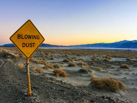 Blowing dust death valley