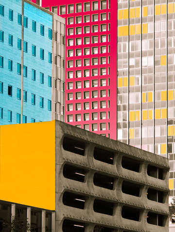 Colorful dallas architecture