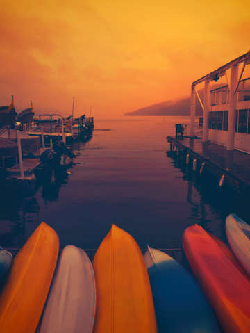 Sunset canoes