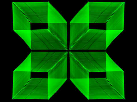 Green neon window lights 4