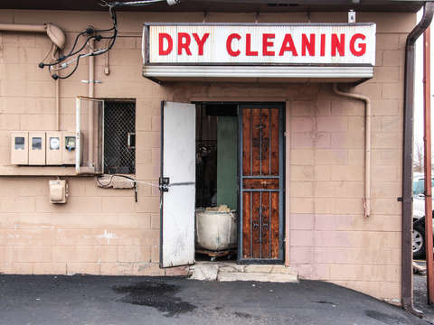Sketchy dry cleaning location