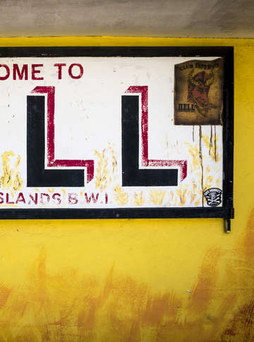 Welcome to hell grand cayman island