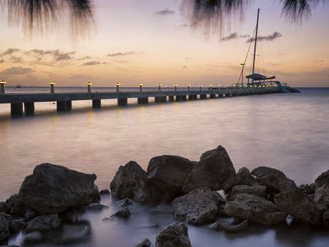Dusk at rum point grand cayman