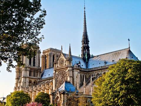 Full view of notre dame cathedral