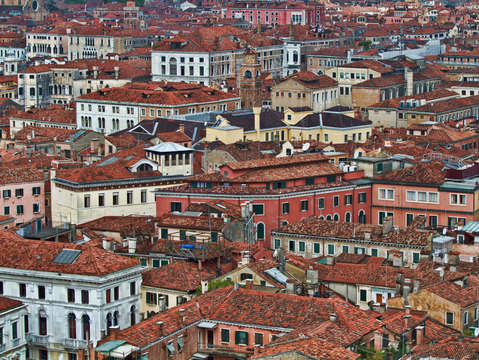 View from above venice