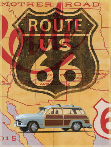 The mother road route 66 travel poster