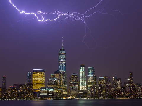 Lightning over nyc