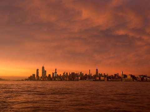 Nyc skyline at sunset 2
