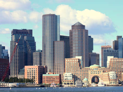Boston as seen from boston harbor