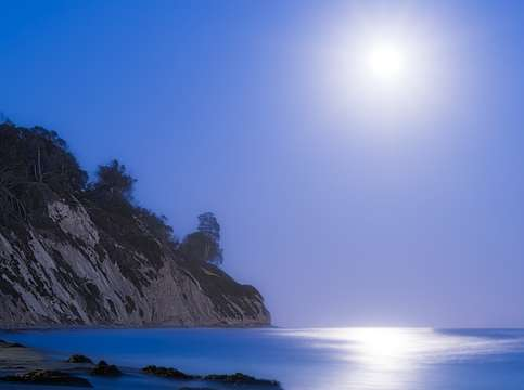 Full moon over the pacific