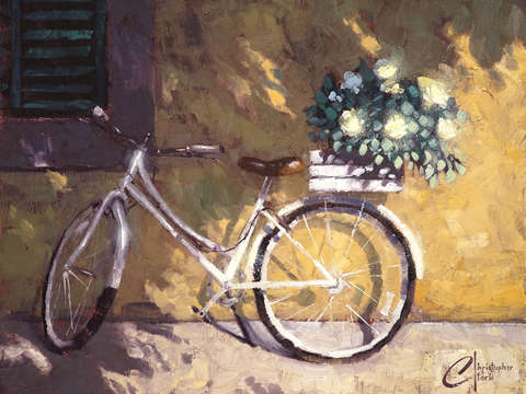 Italian bicycle with flowers