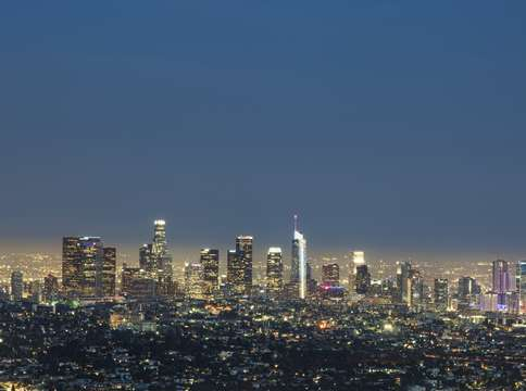 Los angeles pano at night