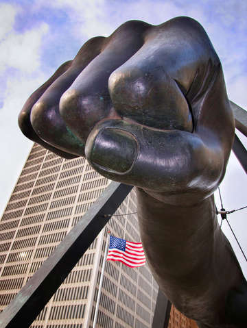 The fist a monument to joe louis detroit