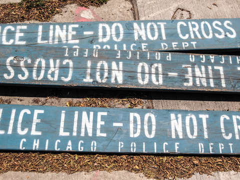 Chicago police line