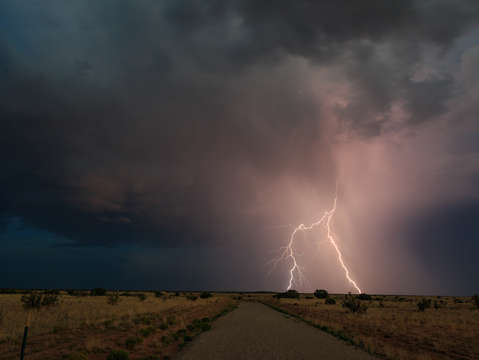 Lightning strikes new mexico