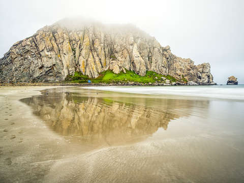 Morro rock reflection