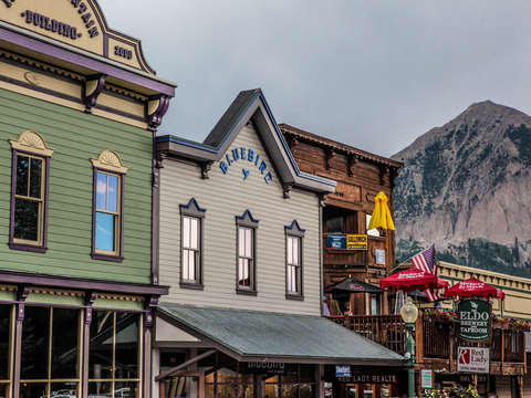 Old buildings in crested butte