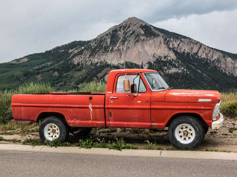 Ford pickup truck in crested butte