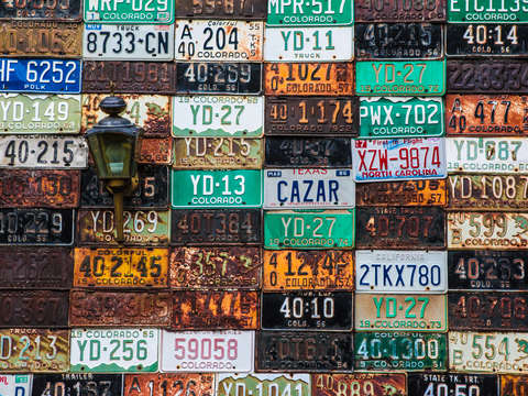Rusty license plates