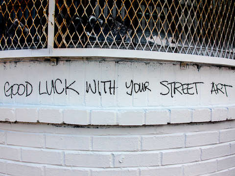 Good luck with your street art