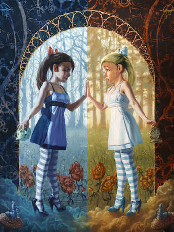Alice in wonderland the reflection