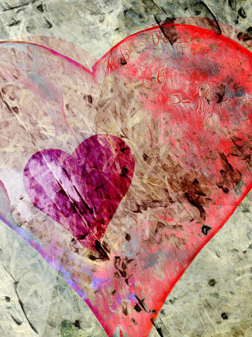 Hearts abstract 2
