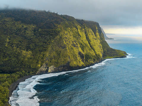 Beautiful landscape of waipio valley