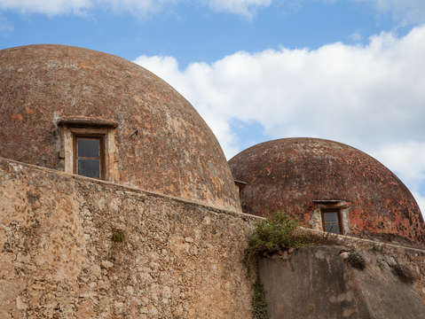 Crete domed roof