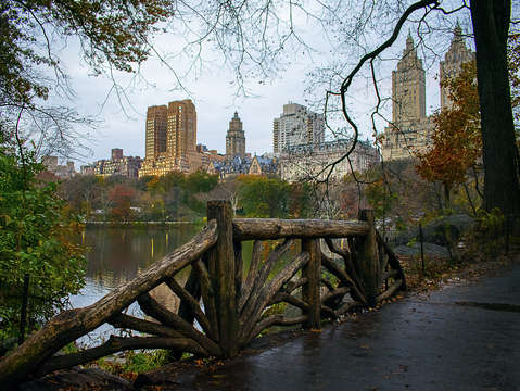 A ramble view of central park west