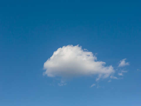 A solitary cloud