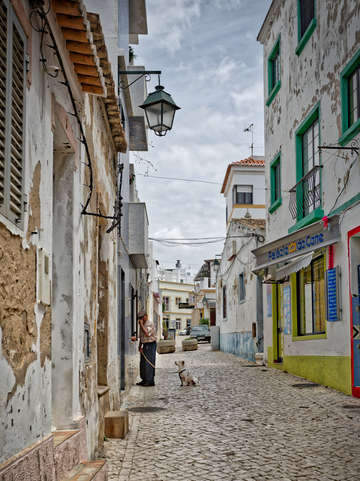 A man and his dog in alvor