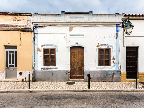 Streets of alvor portugal
