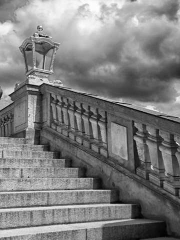 Nymphenburg palace stairs munich