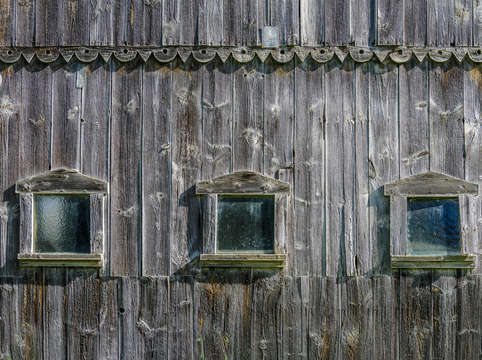 Ancient barn windows