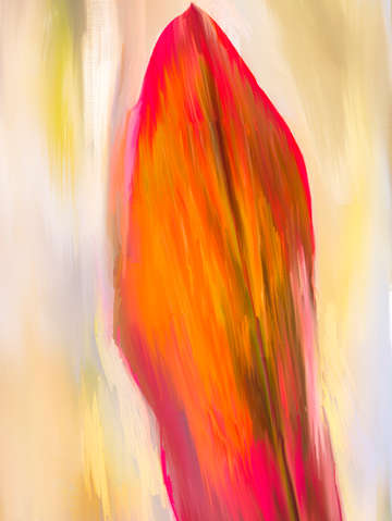 Red ti leaf digital painting